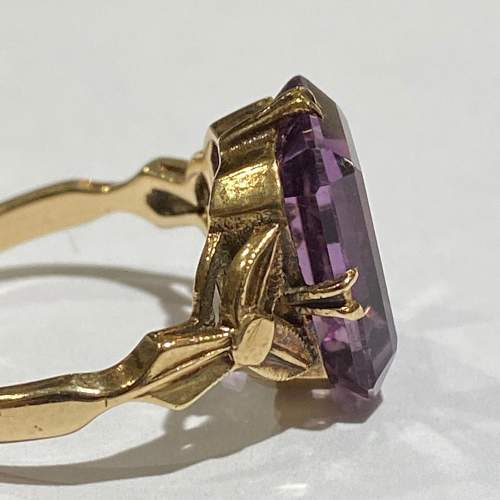 9ct Gold Large Amethyst Ring image-3