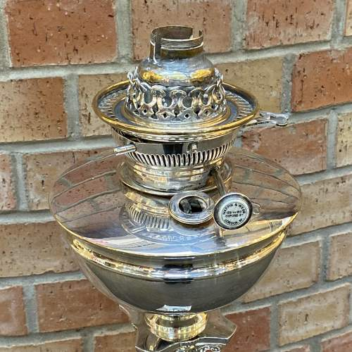 Quality Mappin and Webb Silver Plate Oil Lamp Base image-4