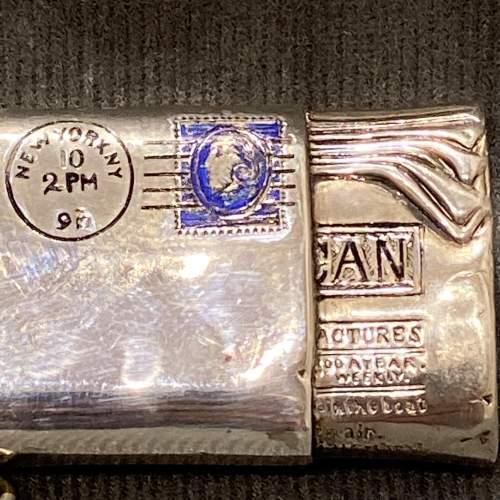 Victorian Silver American Novelty Newspaper Roll Vesta Case image-3