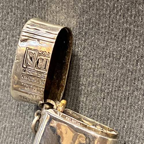 Victorian Silver American Novelty Newspaper Roll Vesta Case image-6