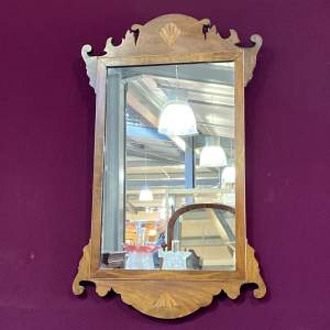 Early Victorian Inlaid Mahogany Wall Mirror