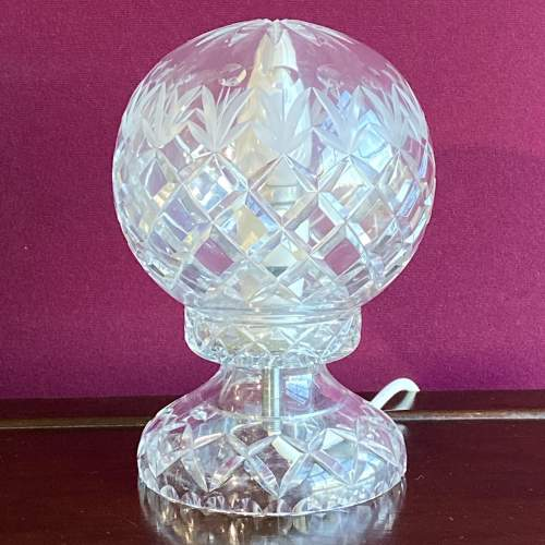 Cut Crystal Glass Dome Lamp image-1