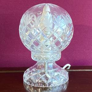 Cut Crystal Glass Dome Lamp
