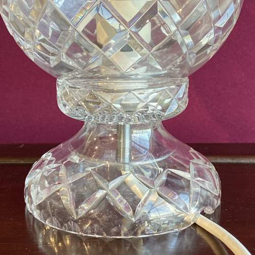 Cut Crystal Glass Dome Lamp image-3