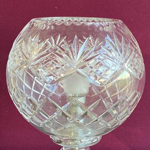 Large Cut Crystal Glass Dome Lamp image-2