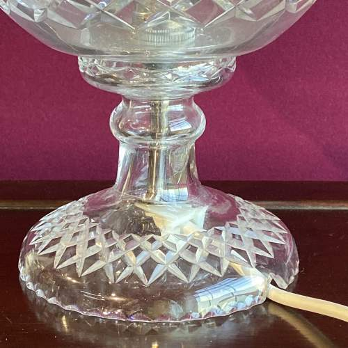 Large Cut Crystal Glass Dome Lamp image-3