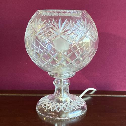 Large Cut Crystal Glass Dome Lamp image-1