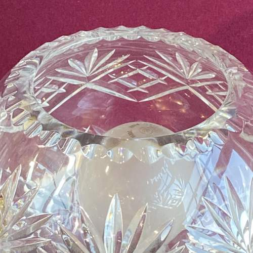 Large Cut Crystal Glass Dome Lamp image-4