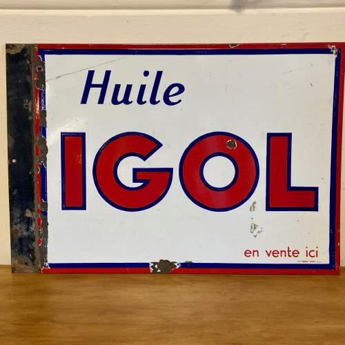 Huile Igol Enamel Sign image-1