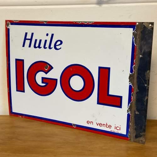 Huile Igol Enamel Sign image-4