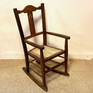 Arts and Crafts Childs Rocking Chair