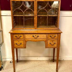 19th Century Satinwood Cabinet on Stand