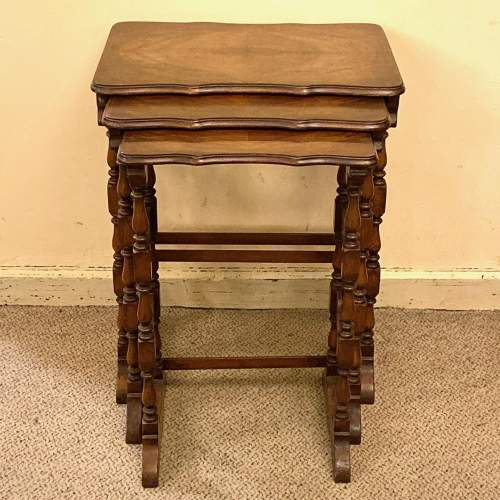 Early 20th Century Walnut Nest of Tables image-2