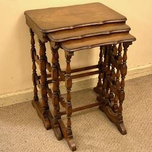 Early 20th Century Walnut Nest of Tables