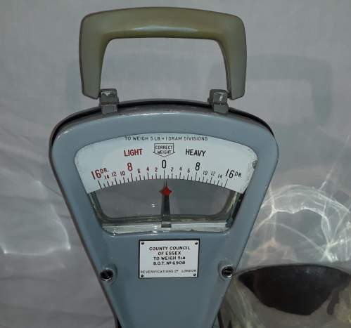 1950s Essex County Council Weighing Scales image-3