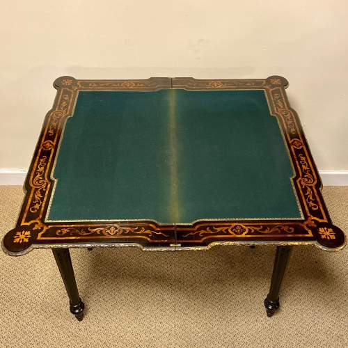 Louis XV Style 19th Century Foldover Card Table image-5