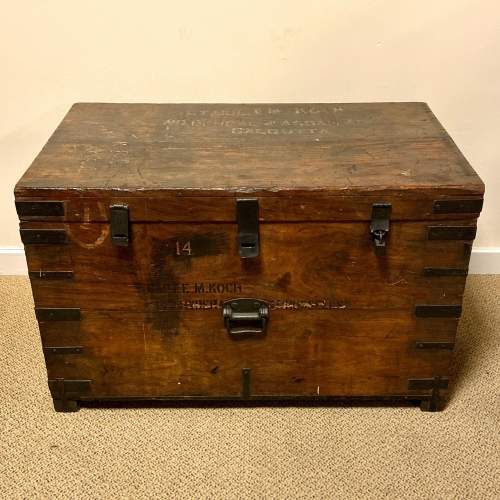 Military Wooden Trunk Belonging to LT COL Koch image-1