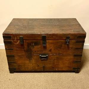 Military Wooden Trunk Belonging to LT COL Koch