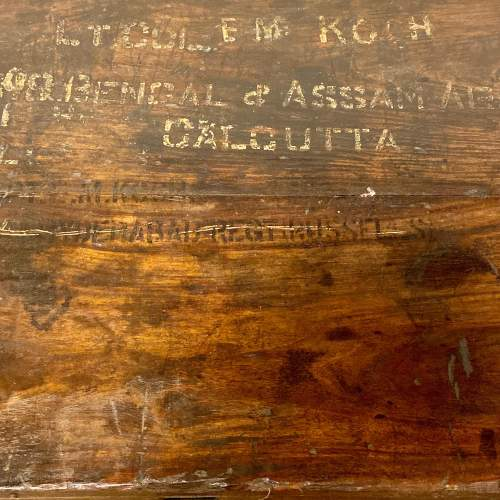 Military Wooden Trunk Belonging to LT COL Koch image-3