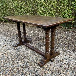 Oak Refectory Dining Table with Unusual Base