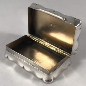 Edwardian Silver Snuff Box Joseph Gloster Birmingham 1904