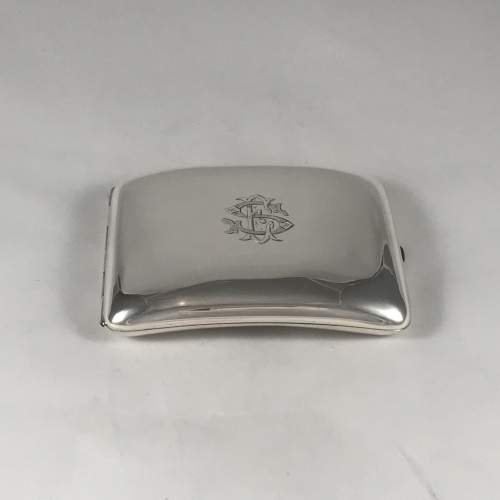 Hallmarked Silver Curved Cigarette Case Chester 1904 image-2