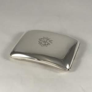 Hallmarked Silver Curved Cigarette Case Chester 1904