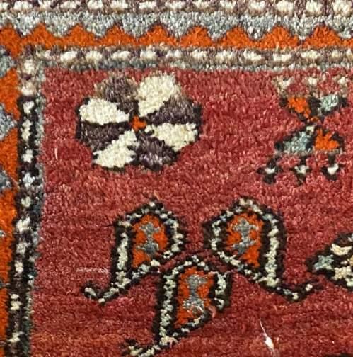 Old Hand Knotted Persian Bebehan Superb Design Village Piece image-6
