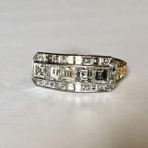 Carre Step Cut Vintage Diamond Ring