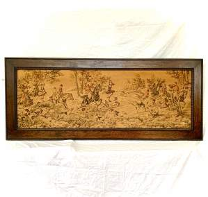 A Large Tapestry of a Traditional Hunting Scene