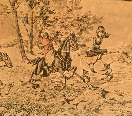 A Large Tapestry of a Traditional Hunting Scene image-2