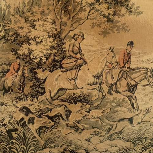A Large Tapestry of a Traditional Hunting Scene image-3