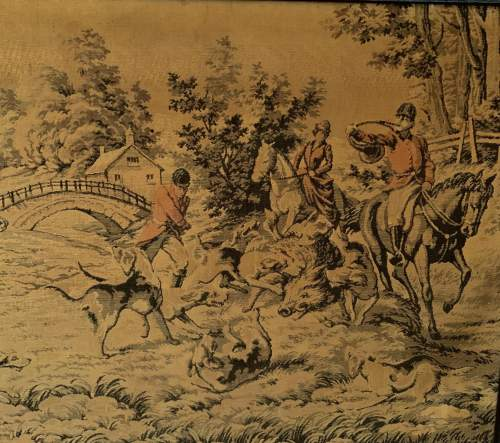 A Large Tapestry of a Traditional Hunting Scene image-4