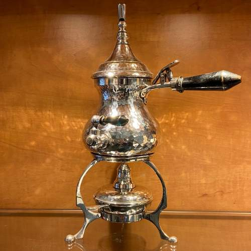 Quality Late 19th Century Silver Plated Coffee Pot image-1