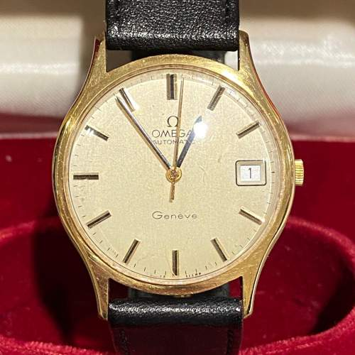 Omega Late 20th Century Gold Cased Gents Watch image-1