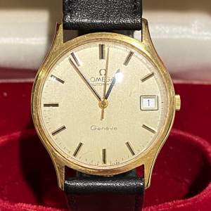 Omega Late 20th Century Gold Cased Gents Watch