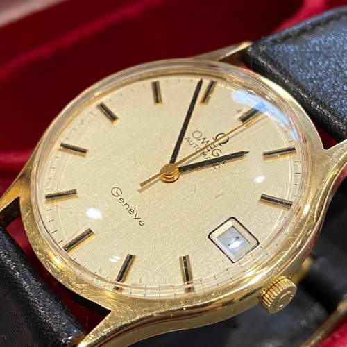 Omega Late 20th Century Gold Cased Gents Watch image-2