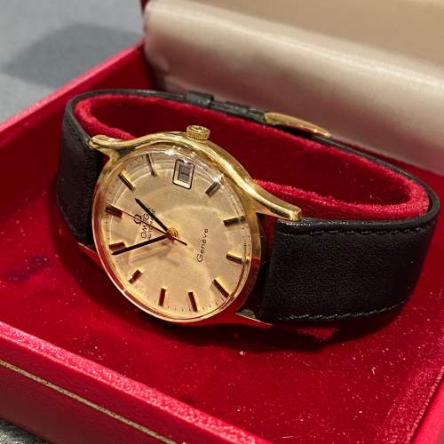 Omega Late 20th Century Gold Cased Gents Watch image-3