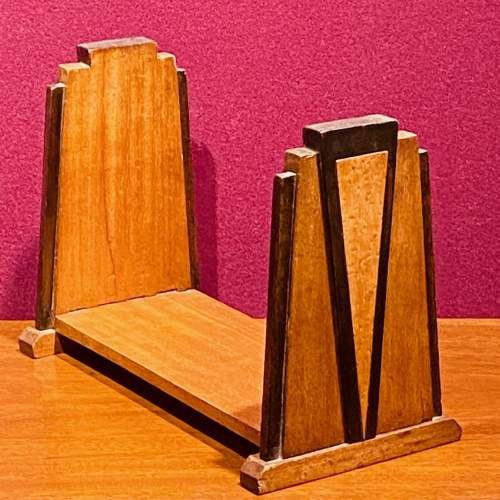 Art Deco Mahogany Book Stand image-1