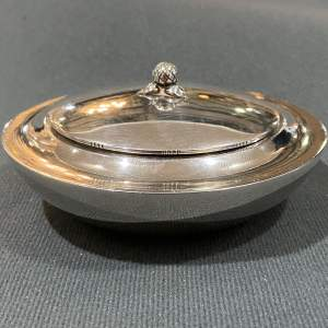 Georg Jensen Lidded Silver Bowl
