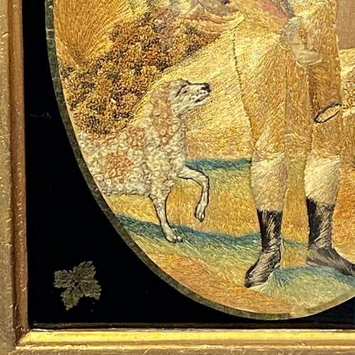 18th Century Silkwork Picture of a Huntsman image-4