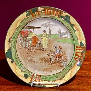 Royal Doulton Motoring Series Plate Itch Yer On Guvenor