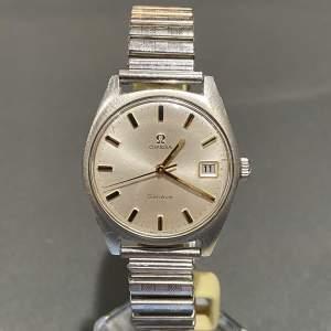 1970s Vintage Omega Gentlemans Stainless Steel Watch