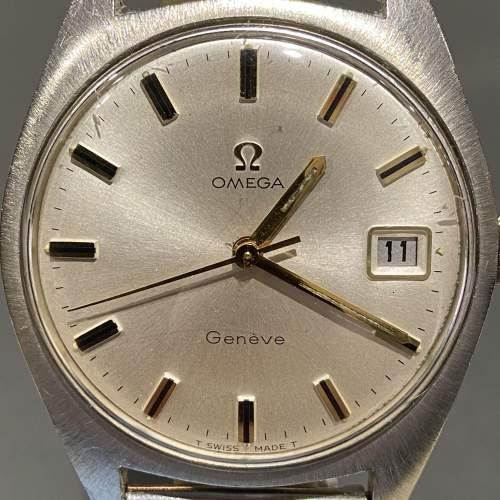 1970s Vintage Omega Gentlemans Stainless Steel Watch image-2