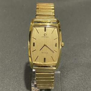 Late 20th Century Gold Plated Omega Unisex Watch