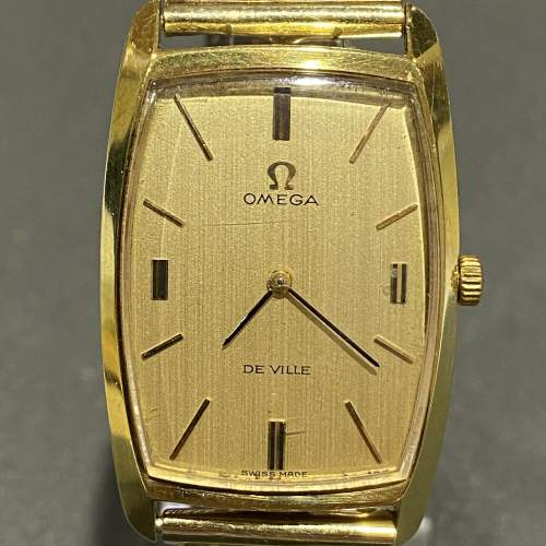 Late 20th Century Gold Plated Omega Unisex Watch image-2