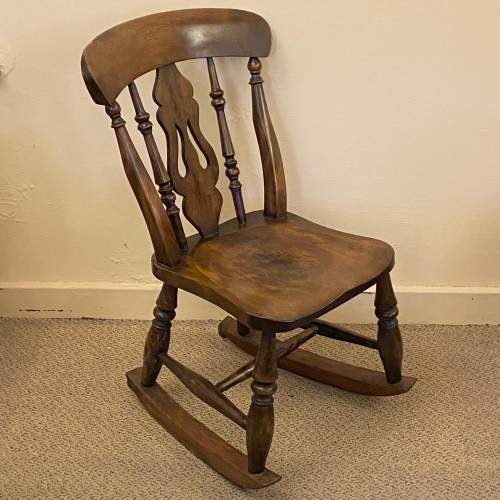 Victorian Childs Rocking Chair image-1