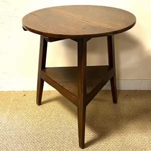 Early 19th Century Oak Cricket Table