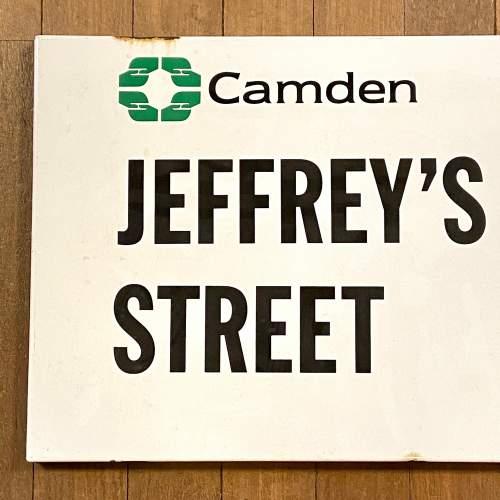 Jeffreys Street Camden London Vintage Enamel Street Sign image-2
