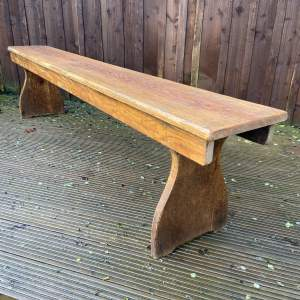 Long Old Pine Bench